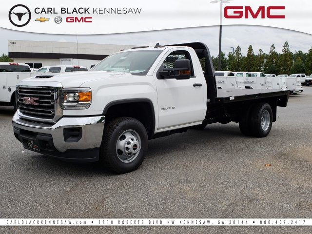 2018 Sierra 3500 Regular Cab DRW 4x2,  Knapheide Platform Body #1381247 - photo 1