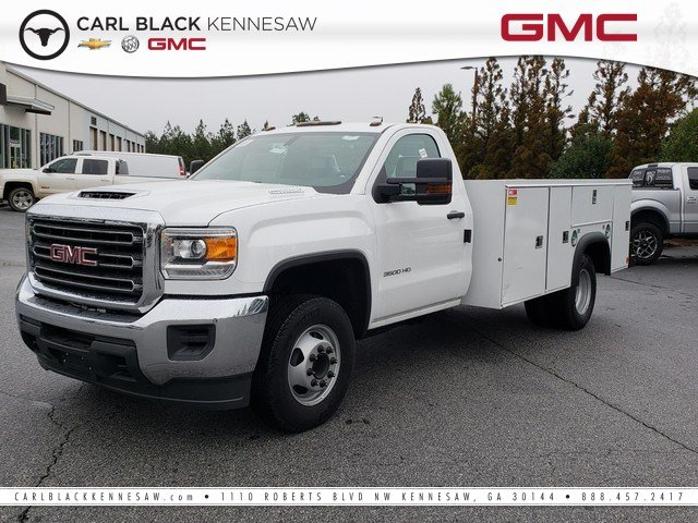 2018 Sierra 3500 Regular Cab DRW 4x2,  Monroe Service Body #1381364 - photo 1
