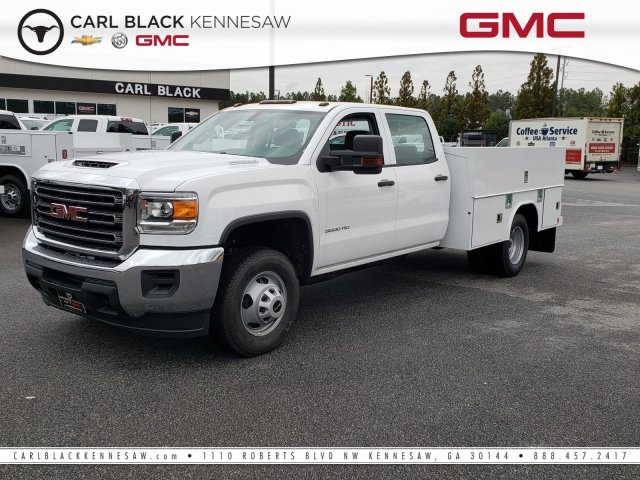 2019 Sierra 3500 Crew Cab DRW 4x2,  Reading Classic II Steel Service Body #1390308 - photo 1