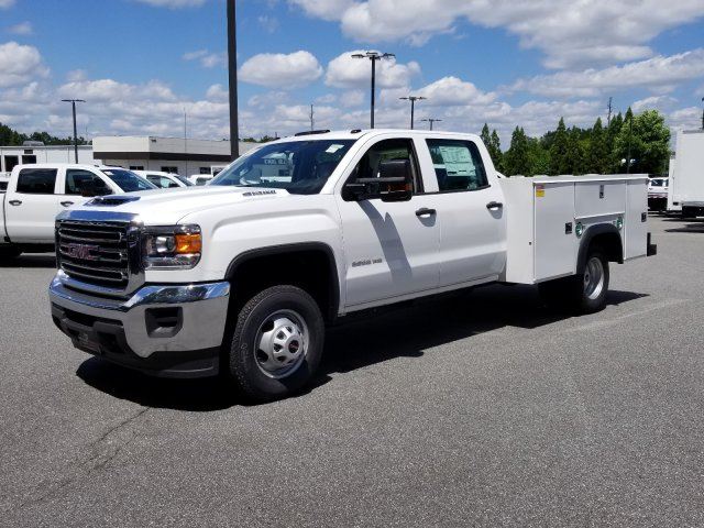 2019 Sierra 3500 Crew Cab DRW 4x2,  Monroe Service Body #F1390791 - photo 1