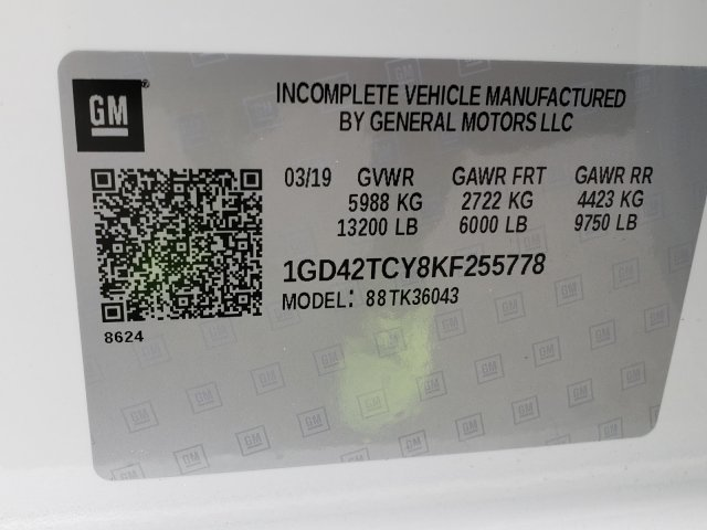 2019 Sierra 3500 Crew Cab DRW 4x4,  Hillsboro GII Steel Platform Body #F1391000 - photo 7
