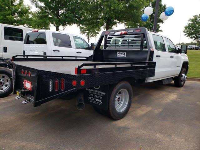 2019 Sierra 3500 Crew Cab DRW 4x4,  Hillsboro GII Steel Platform Body #F1391003 - photo 8
