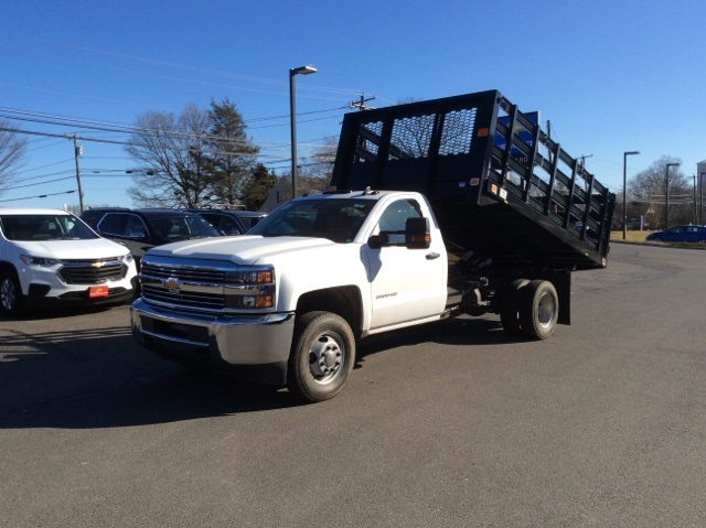 2018 Silverado 3500 Regular Cab DRW 4x4, Knapheide Stake Bed #8548 - photo 9