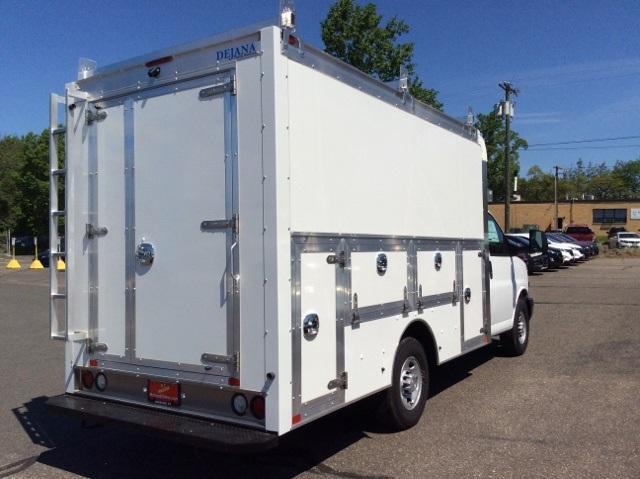 2018 Express 3500 4x2,  Dejana Truck & Utility Equipment Service Utility Van #8726 - photo 1
