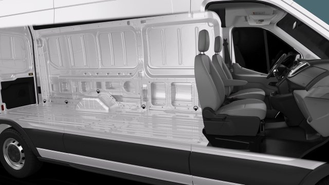 2019 Ford Transit 350 High Roof RWD, NorCal Vans Secure Transport Upfitted Cargo Van #191063 - photo 2