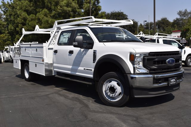 2020 Ford F-450 Crew Cab DRW 4x2, Scelzi Contractor Body #C200913 - photo 1