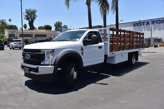 2021 Ford F-550 Regular Cab DRW 4x2, Skaug Truck Body Works Stake Bed #C210274 - photo 1