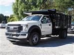 2019 F-450 Regular Cab DRW 4x4,  Rugby Versa Rack Landscape Dump Stake Bed #W19117 - photo 5