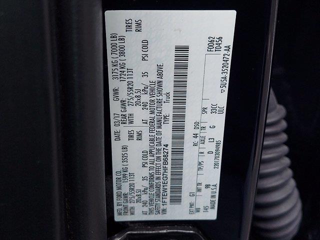 2017 Ford F-150 SuperCrew Cab 4x4, Pickup #W21634P - photo 27