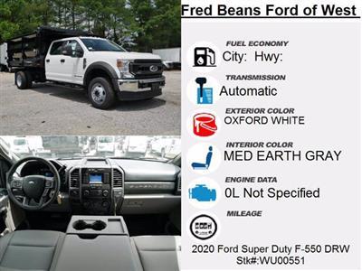 2020 Ford F-550 Crew Cab DRW 4x4, Rugby Landscape Dump #WU00551 - photo 14