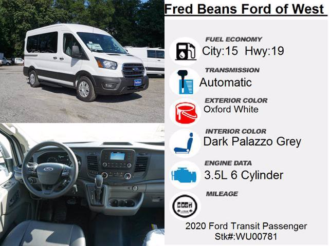 2020 Ford Transit 150 Med Roof 4x2, Passenger Wagon #WU00781 - photo 4