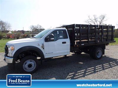 2021 Ford F-450 Regular Cab DRW 4x2, Reading Steel Stake Bed #WU10255 - photo 2