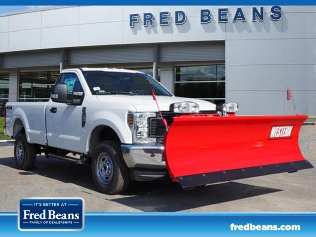Fred Beans Ford West Chester >> 2019 F 250 Regular Cab 4x4 Western Snowplow Pickup Stock Wu19592
