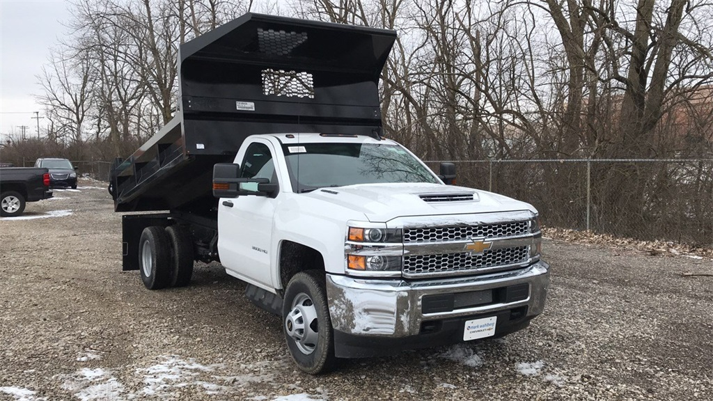 2019 Silverado 3500 Regular Cab DRW 4x4,  Knapheide Rigid Side Dump Body #CF9T107715 - photo 4