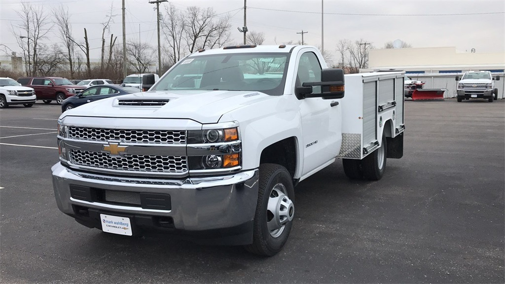 2019 Silverado 3500 Regular Cab DRW 4x4,  Duramag Service Body #CF9T161039 - photo 4