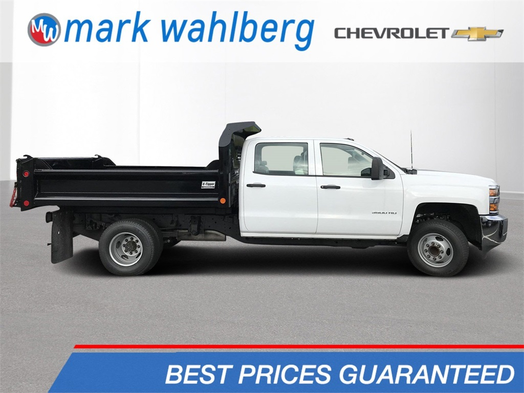 2018 Silverado 3500 Crew Cab DRW 4x2,  Crysteel E-Tipper Dump Body #CJF105851 - photo 1