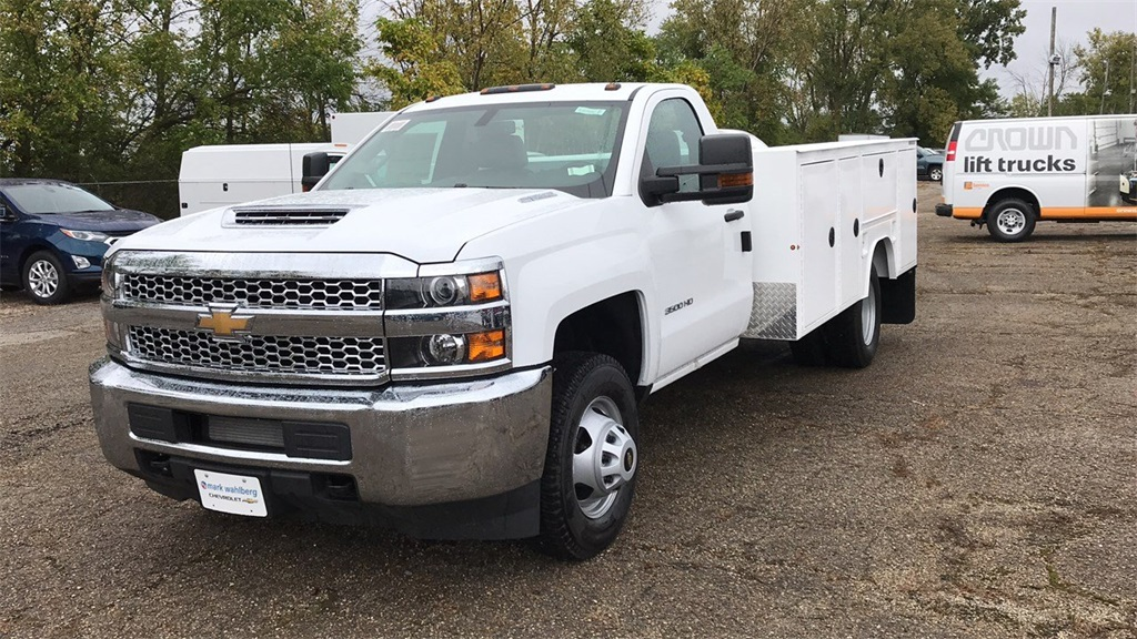 2019 Silverado 3500 Regular Cab DRW 4x4,  Duramag Service Body #CKF102663 - photo 4