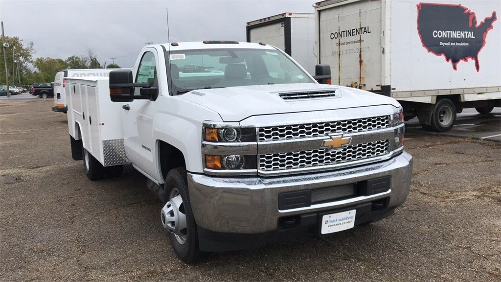 2019 Silverado 3500 Regular Cab DRW 4x4,  Duramag Service Body #CKF102663 - photo 7