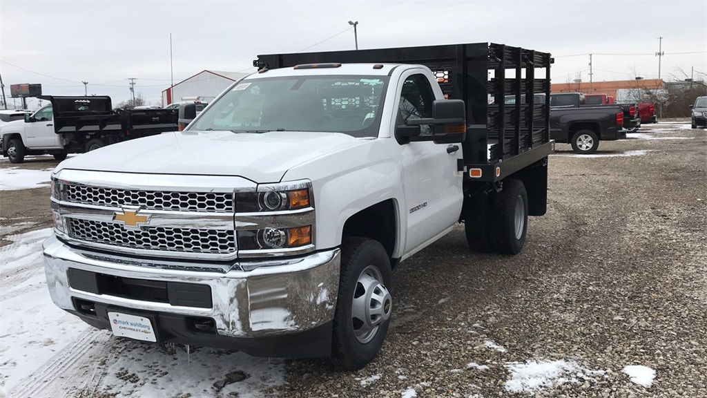 2019 Silverado 3500 Regular Cab DRW 4x2,  Knapheide Value-Master X Stake Bed #CKF106352 - photo 2