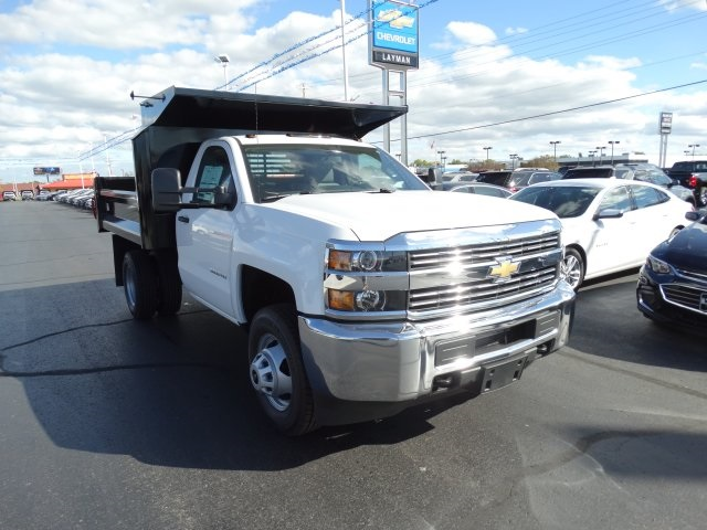 2016 Silverado 3500 Regular Cab 4x4, Crysteel Dump Body #GZ384328 - photo 4