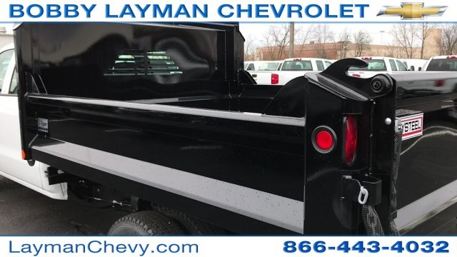 2017 Silverado 3500 Crew Cab DRW 4x4, Crysteel Dump Body #HF124736 - photo 11