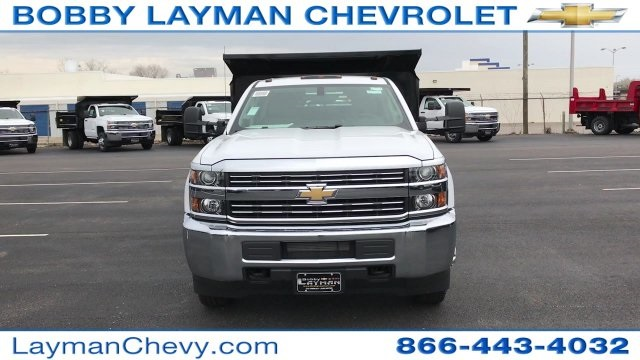 2017 Silverado 3500 Crew Cab DRW 4x4, Crysteel Dump Body #HF124736 - photo 9