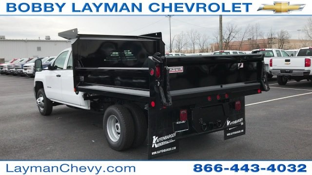 2017 Silverado 3500 Crew Cab DRW 4x4, Crysteel Dump Body #HF124736 - photo 2