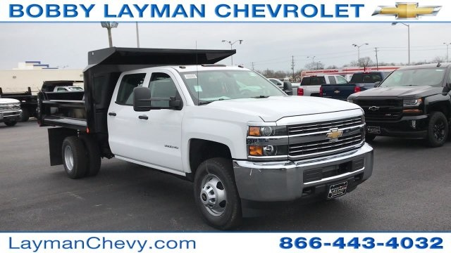 2017 Silverado 3500 Crew Cab DRW 4x4, Crysteel Dump Body #HF124736 - photo 6