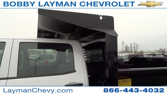 2017 Silverado 3500 Crew Cab DRW 4x4, Crysteel Dump Body #HF133064 - photo 15