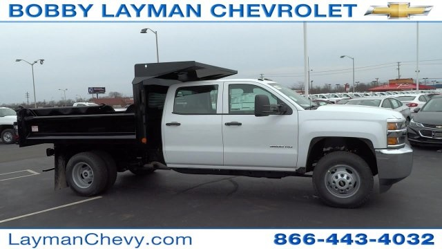 2017 Silverado 3500 Crew Cab DRW 4x4, Crysteel Dump Body #HF133064 - photo 6
