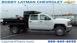 2017 Silverado 3500 Crew Cab DRW 4x4, Crysteel Dump Body #HF133064 - photo 1