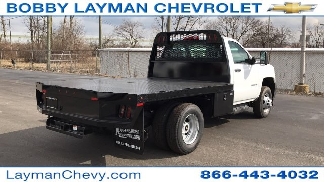 2017 Silverado 3500 Regular Cab DRW 4x2,  Knapheide Platform Body #HF200828 - photo 6