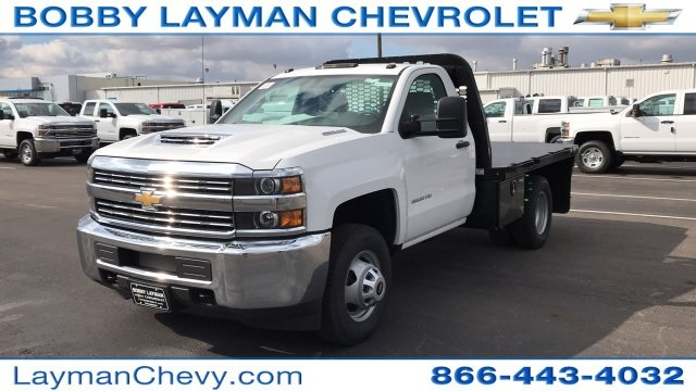 2017 Silverado 3500 Regular Cab DRW 4x2,  Knapheide Platform Body #HF200828 - photo 3