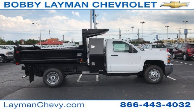 2017 Silverado 3500 Regular Cab DRW, Crysteel Dump Body #HF206832 - photo 11