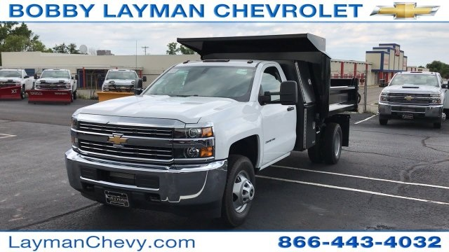 2017 Silverado 3500 Regular Cab DRW, Crysteel Dump Body #HF206832 - photo 7