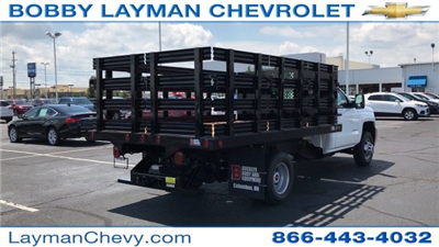 2017 Silverado 3500 Regular Cab DRW, Reading Steel Stake Bodies Stake Bed #HF214817 - photo 5