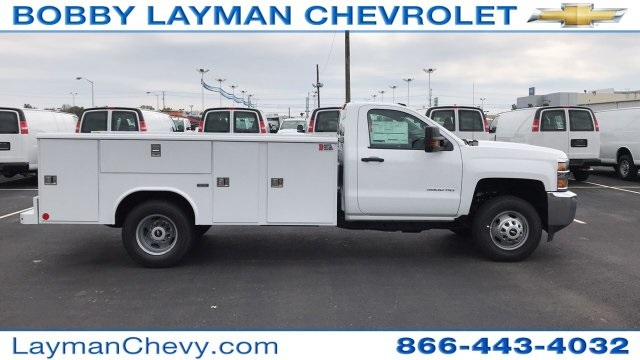 2017 Silverado 3500 Regular Cab DRW 4x4, Reading Classic II Steel Service Body #HF215423 - photo 1