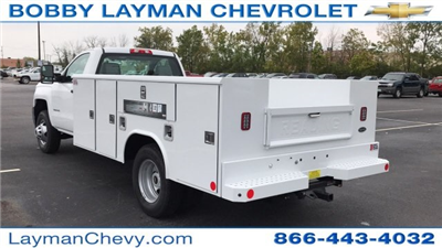 2017 Silverado 3500 Regular Cab DRW 4x4, Reading Classic II Steel Service Body #HF215423 - photo 2