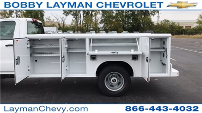 2017 Silverado 3500 Regular Cab DRW 4x4, Reading Classic II Steel Service Body #HF215423 - photo 11