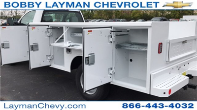 2017 Silverado 3500 Regular Cab DRW 4x4, Reading Classic II Steel Service Body #HF215423 - photo 12