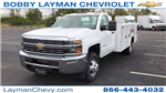 2017 Silverado 3500 Regular Cab DRW 4x4, Reading Classic II Steel Service Body #HF215423 - photo 4