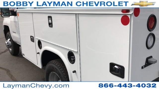 2017 Silverado 3500 Regular Cab DRW 4x4, Knapheide Standard Service Body Service Body #HZ232298 - photo 10