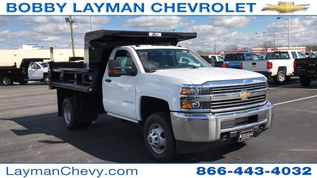 2017 Silverado 3500 Regular Cab DRW, Rugby Dump Body #HZ260514 - photo 10