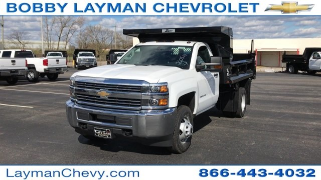 2017 Silverado 3500 Regular Cab DRW, Rugby Dump Body #HZ260514 - photo 3
