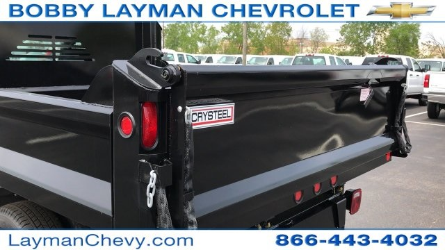 2017 Silverado 3500 Regular Cab DRW 4x4, Crysteel Dump Body #HZ292456 - photo 14
