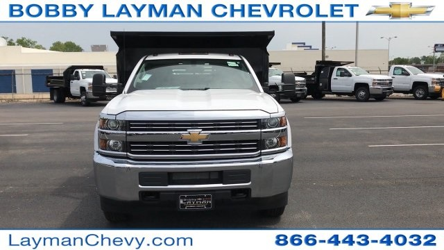 2017 Silverado 3500 Regular Cab DRW 4x4, Crysteel Dump Body #HZ292456 - photo 11