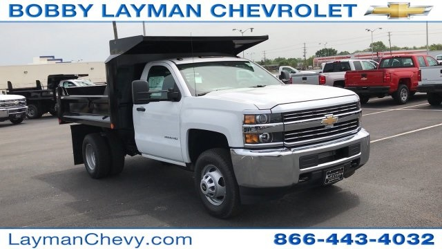 2017 Silverado 3500 Regular Cab DRW 4x4, Crysteel Dump Body #HZ292456 - photo 6