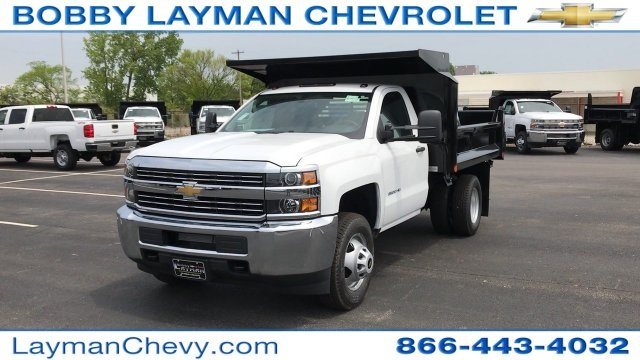 2017 Silverado 3500 Regular Cab DRW 4x4, Crysteel Dump Body #HZ292456 - photo 4