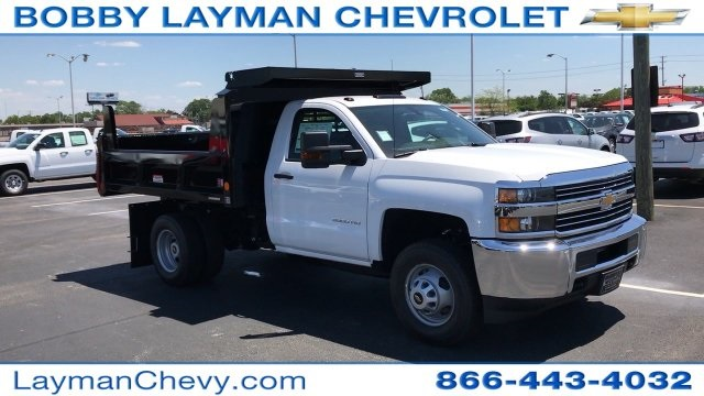 2017 Silverado 3500 Regular Cab DRW, Reading Dump Body #HZ312712 - photo 3