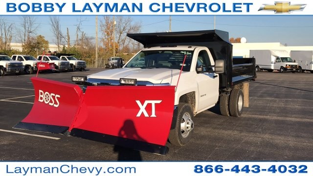 2017 Silverado 3500 Regular Cab DRW 4x4, Crysteel Dump Body #HZ339248 - photo 2